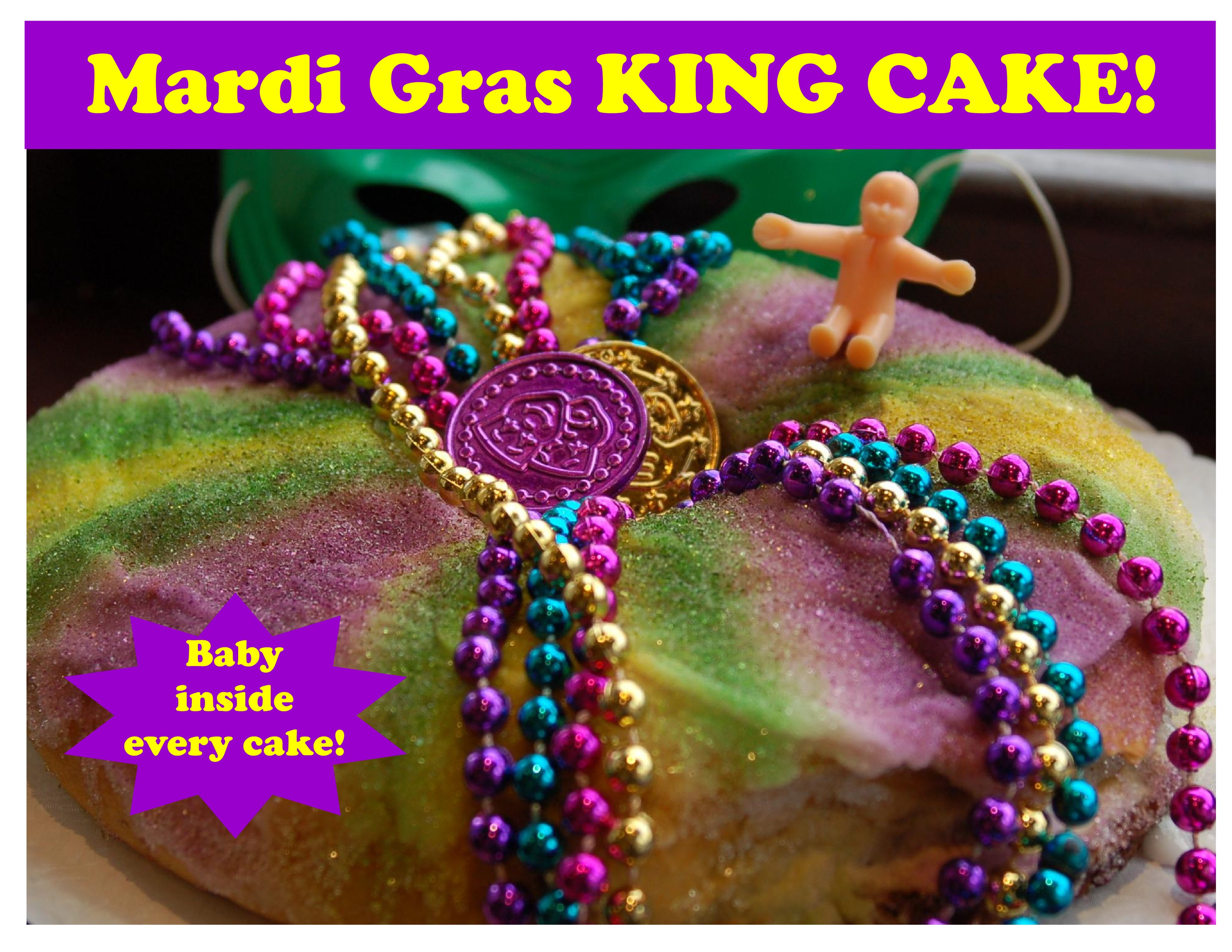 Mardi Gras King Cake Slide 2018