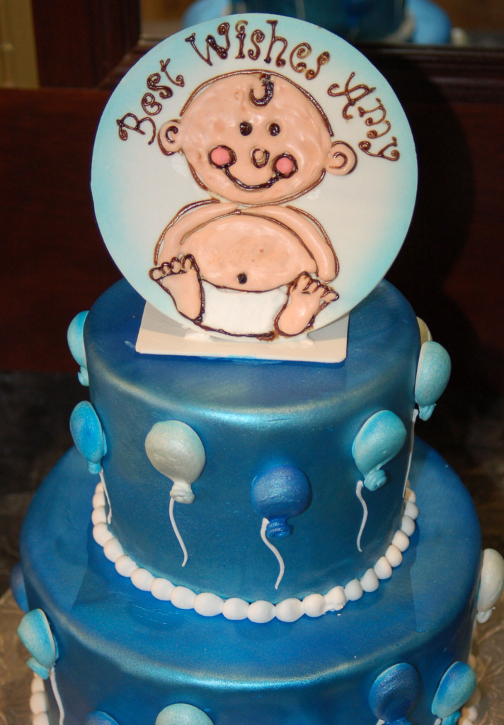 baby shower cake plaque