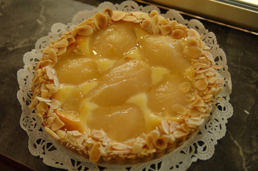 almond pear torte