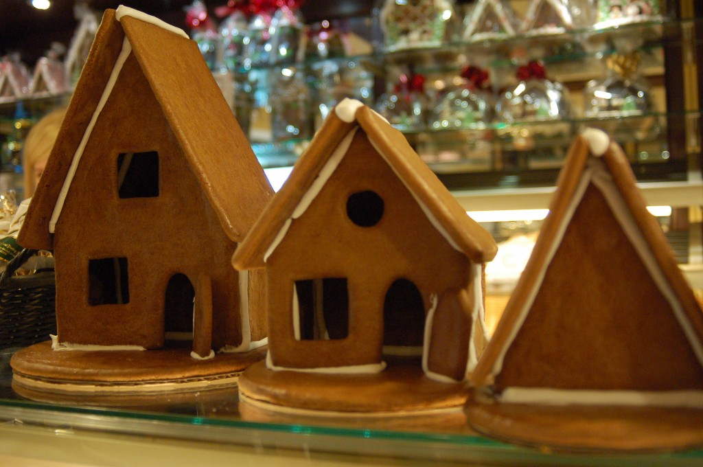 Undecorated Gingerbread Houses