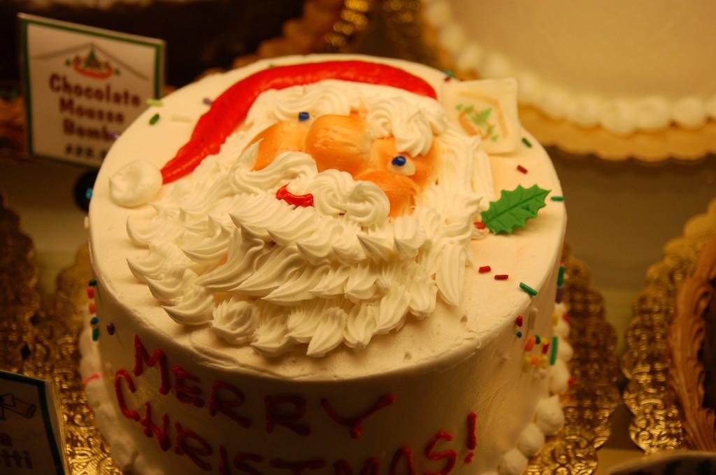 Santa Face Confetti Cake